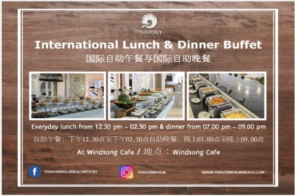 Daily Buffet Breakfast and Buffet Lunch & Dinner for 2 persons