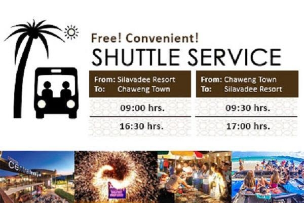 Scheduled shuttle service to Chaweng Beach