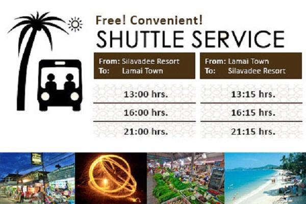 Scheduled shuttle service to Lamai Beach