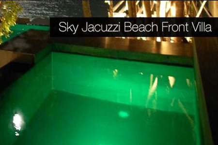 Sky Jacuzzi Beach Front Villa