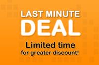 Last Minute Promotion (10% discount)