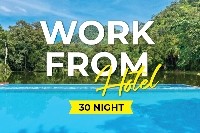 Work from hotel - 30 nights (Breakfast)